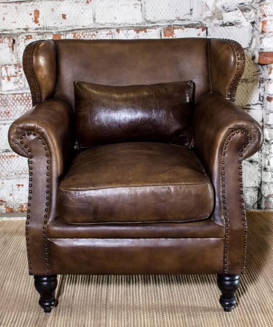 Винтажное кресло кожа SF5011