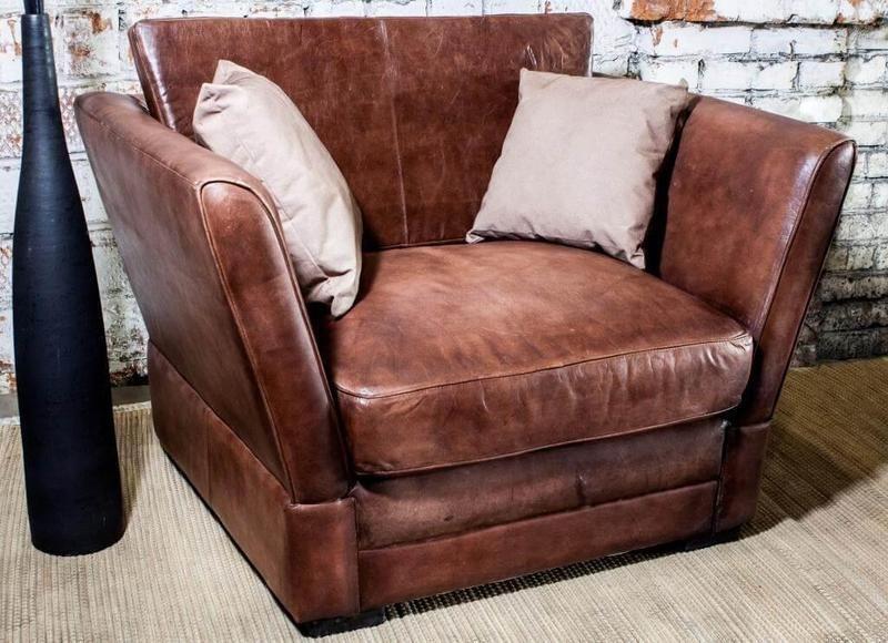 Винтажный кожаный диванчик SF5063 (a)
