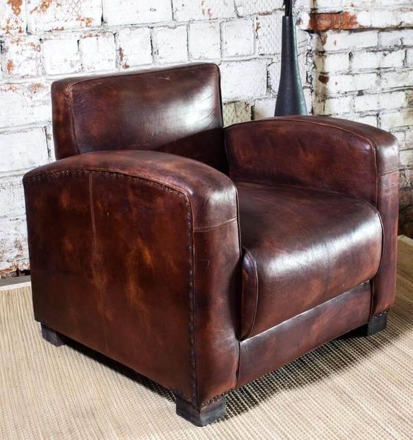 Винтажное кресло кожа SF5037